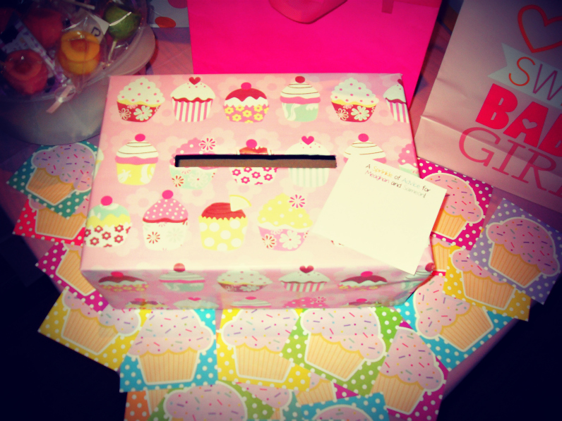 Cupcake Box for A Sprinkle of Advice for Parents and Wishes for Baby Cards