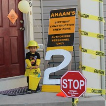 Construction Birthday Party Front Door Decor
