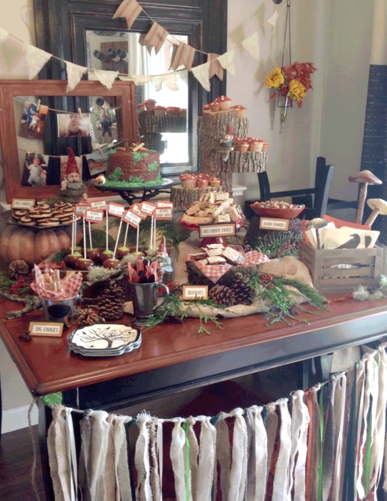 Woodland Dessert Table