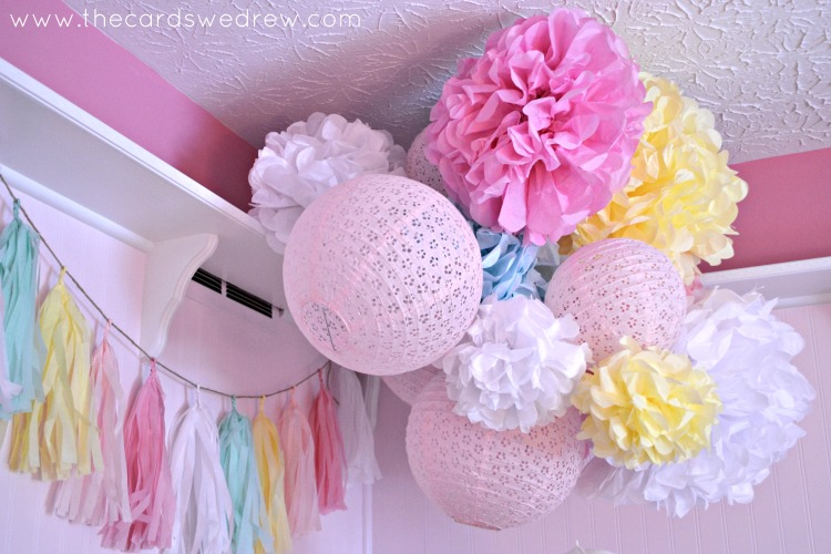 Poms and Lacy Pink Globes