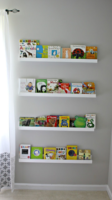 Nursery Library Wall