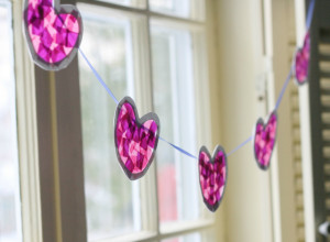 Stained Glass Heart Garland - Project Nursery