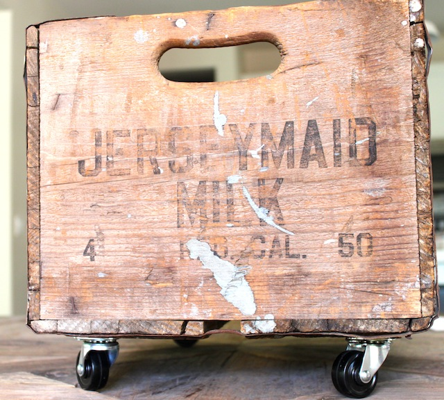 DIY Vintage Toy Crate