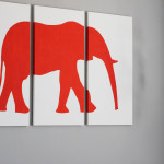 Elephant Silhouette Wall Art