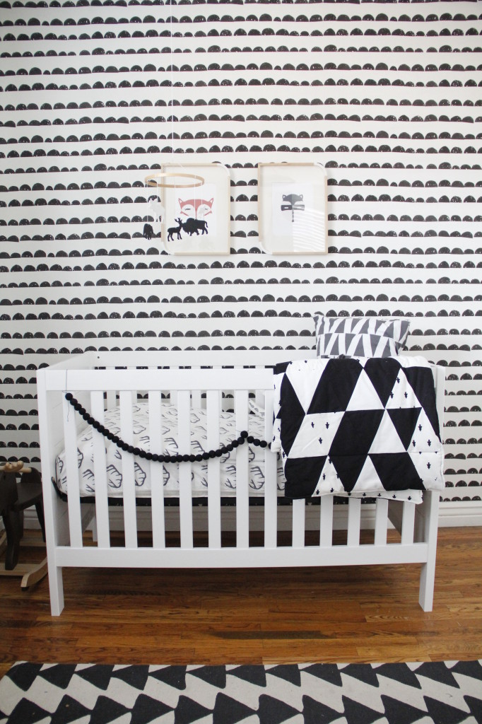 Black And White Nursery Wall Decor : Finn s black and white woodland nursery project