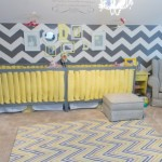 Chevron Themed Nursery for Twin Girls