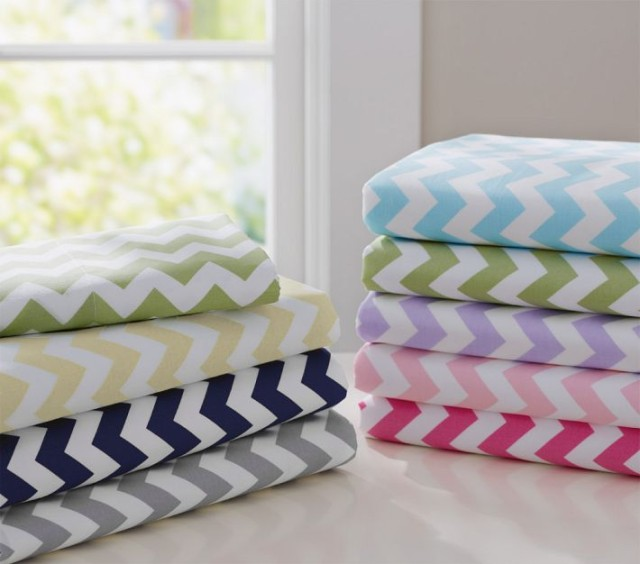 Fresh Chevron Crib Sheets from Pottery Barn Kids