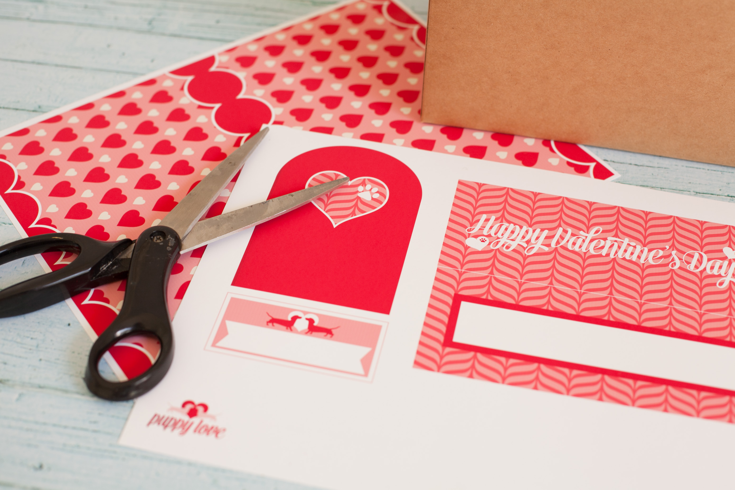 Puppy Love Valentine Mailbox Printable