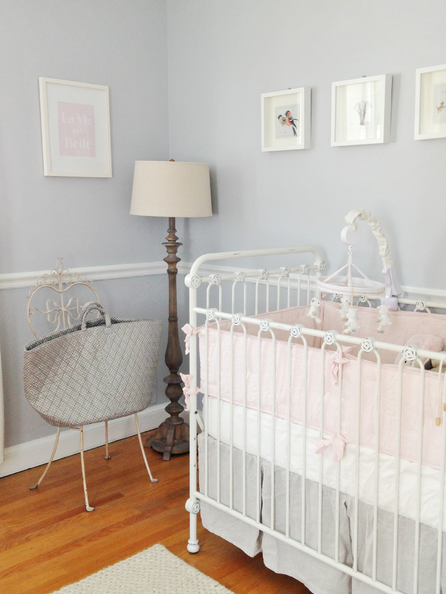 Adele Lou S Soft Grey And Pale Pink Nursery Project Nursery