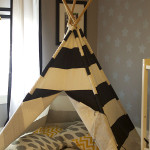 Black Stripe Land of Nod Teepee