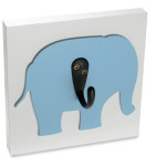 Homeworks Etc Blue Elephant  Wall Hook