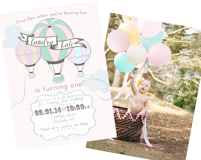Hot Air Balloon Birthday Party Invitation - Project Nursery