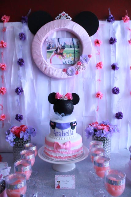Princess Minnie Birthday Party Cake