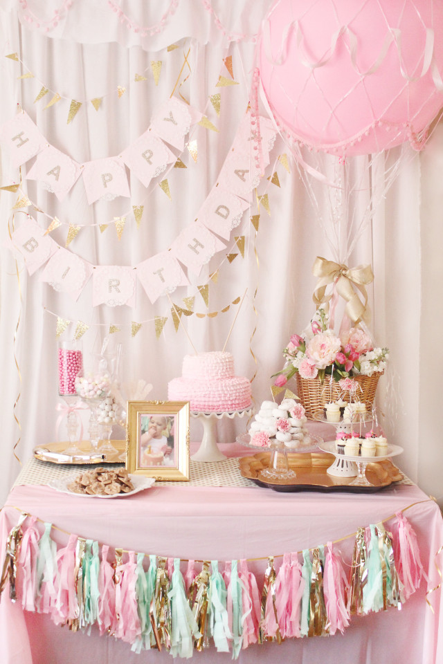 Hot Air Balloon Birthday Party Dessert Table - Project Nursery
