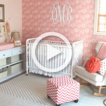 Pink Nursery Room Tour