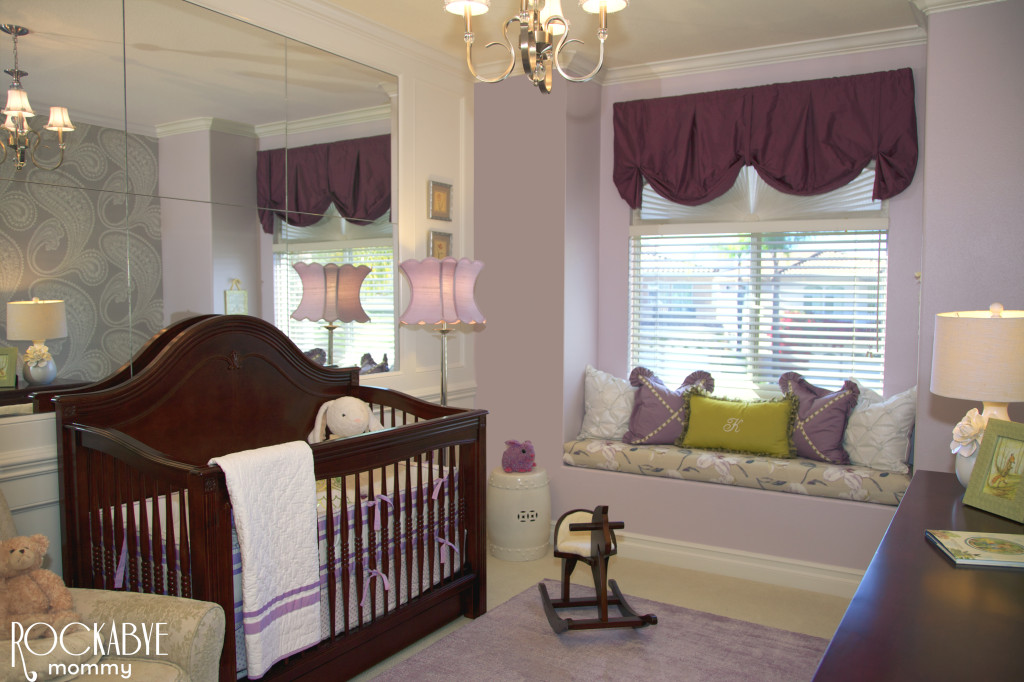 Purple and Green Nursery