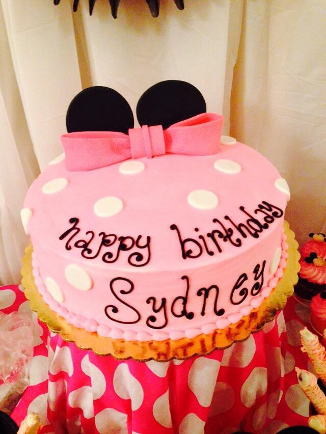 Minnie Mouse Pink Birthday Cake