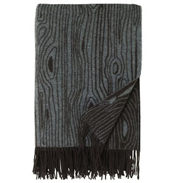 Gray and Brown Woodgrain Blanket