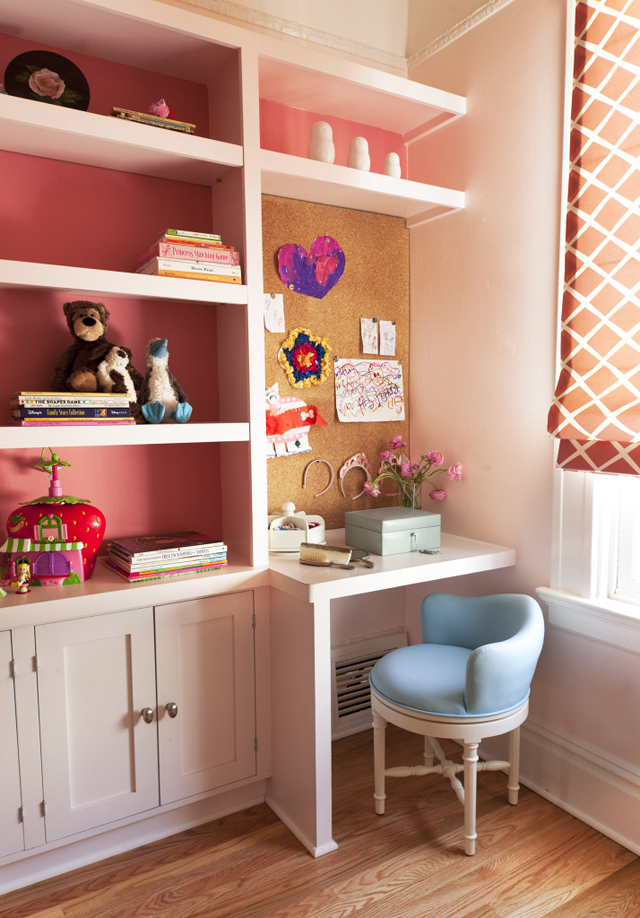 Big Girl Built-In Desk and Storage