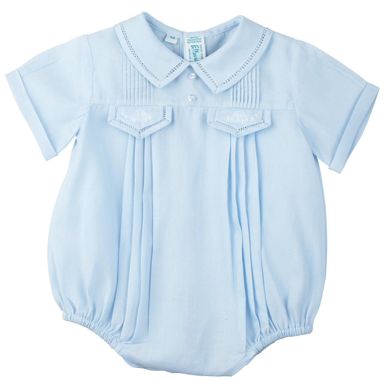 Blue Romper from Feltman Brothers