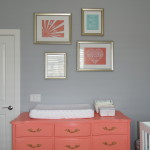 Refinished Vintage Dresser Painted with Benjamin Moore Coral Gables