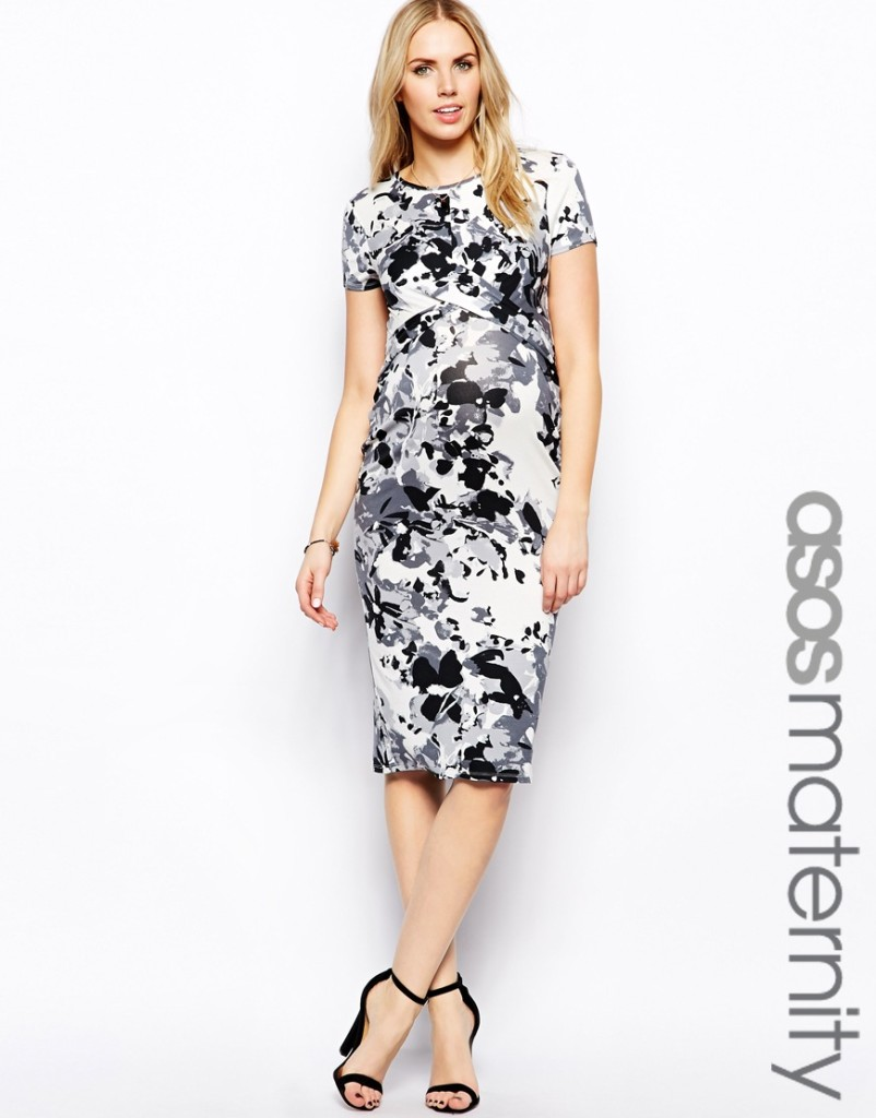 Graphic Floral Print Maternity Dress from ASOS
