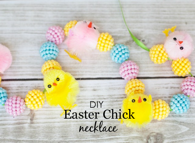 DIY Easter Chick Necklace - Project Nursery
