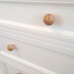 coral and teal nursery dresser knobs