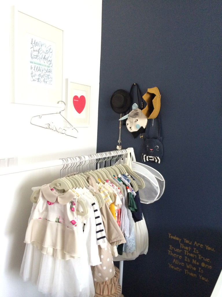 Clothing Rack in the Nursery
