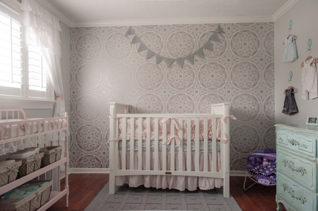 Pink and Gray Shabby Chic Nursery - Project Nursery