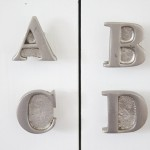 Alphabet Knobs on Changing Table