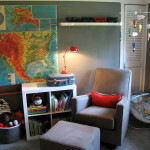Vintage Map On Nursery Wall