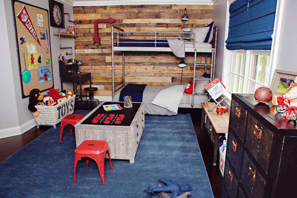 Industrial-Vintage Boy's Room featuring RH Baby & Child Furniture