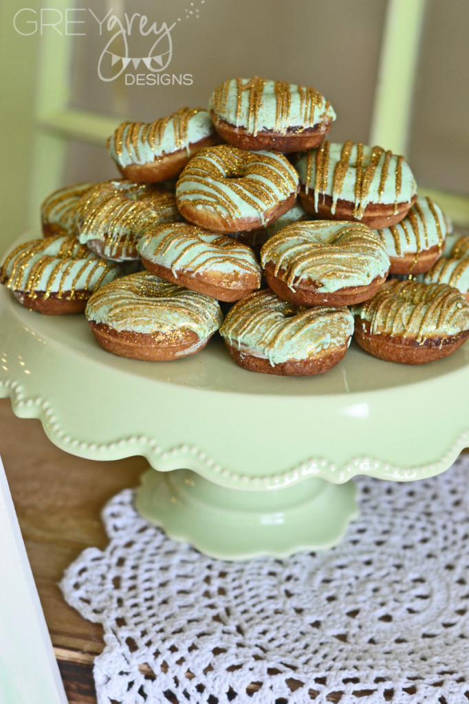 Mint and Gold Donuts