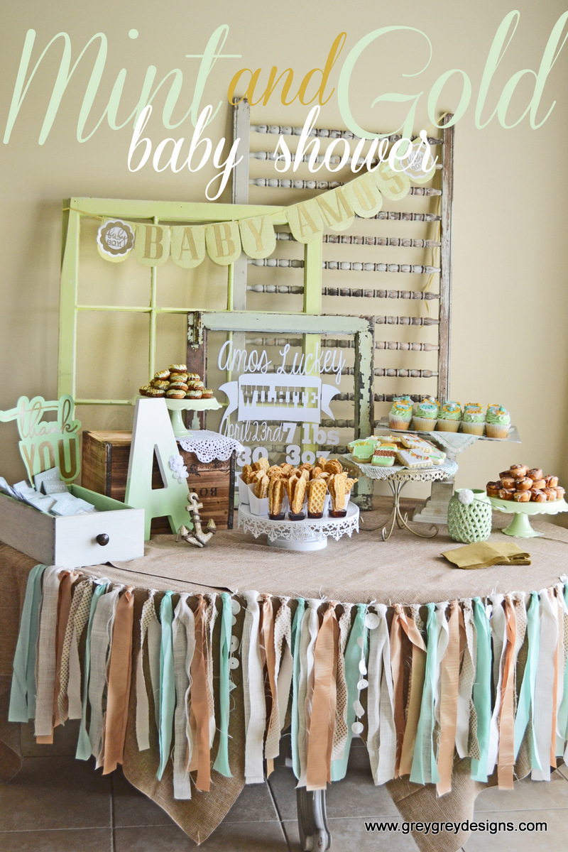 Mint and Gold Baby Shower