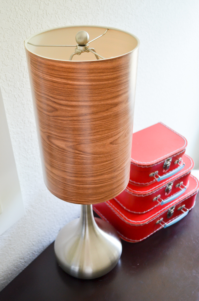 DIY Faux Wood Lamp Shade