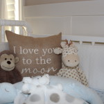 """I Love You to the Moon"" Pillow for the Nursery"