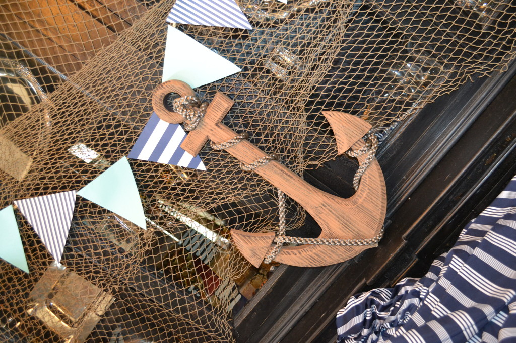 Nautical Decor for this Nautical Baby Shower