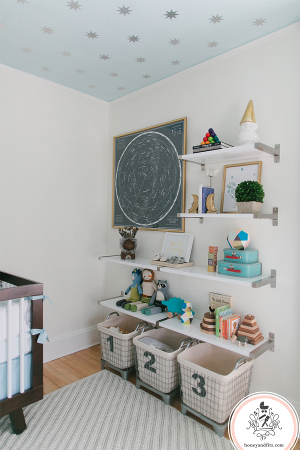 Nursery Ceiling with DIY Star Decals - Project Nursery