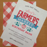 Farmers Market Birthday Party Invitation