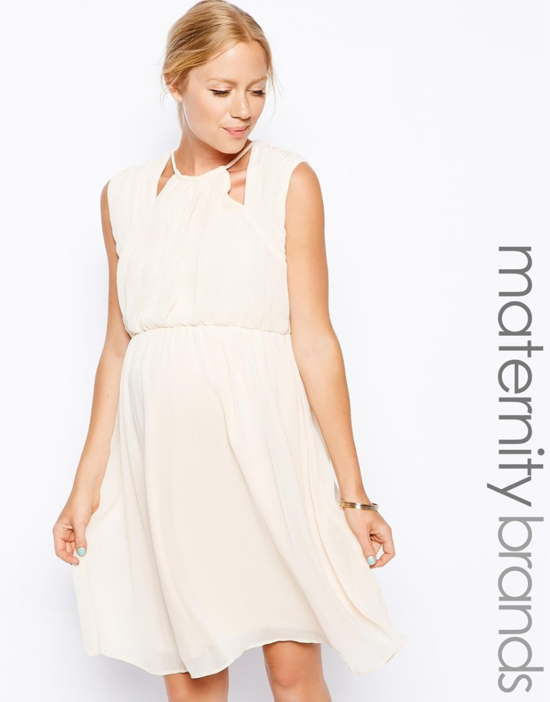 Off-White Maternity Dress from ASOS