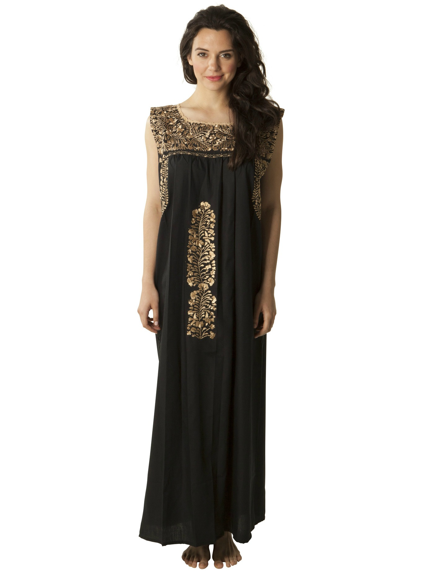 Black and Gold Maxi Dress from Mi Golondrina