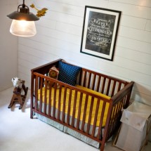 Planked Wall in this Vintage Farmhouse Nursery