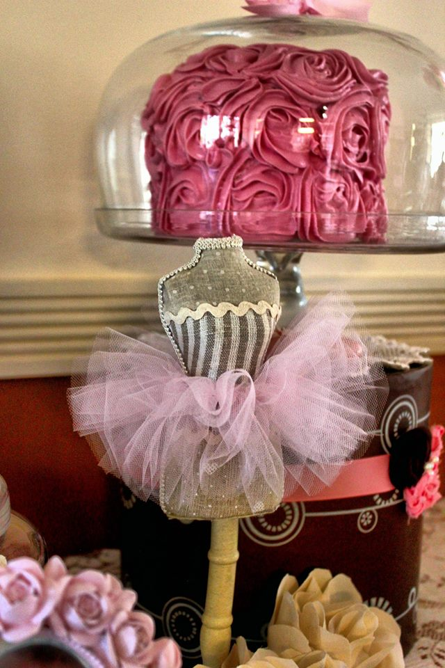 Mini Dress Form with Tutu