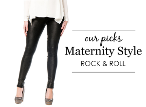 Rock and Roll Maternity Style
