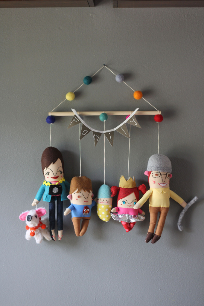 Family of Five Wall Hanging