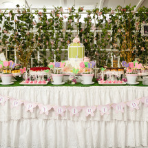 Garden Birthday Party Dessert Table