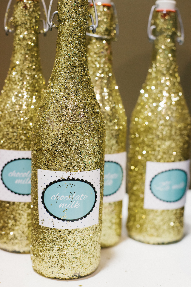DIY Glittered Bottles - Project Nursery