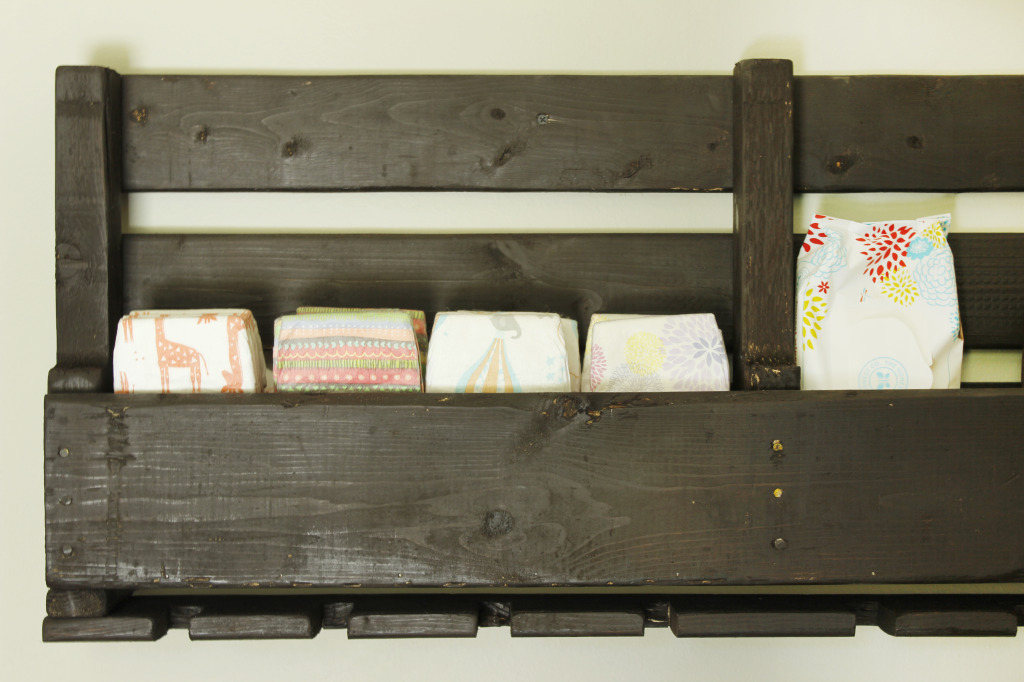 Wood Pallet Diaper Storage