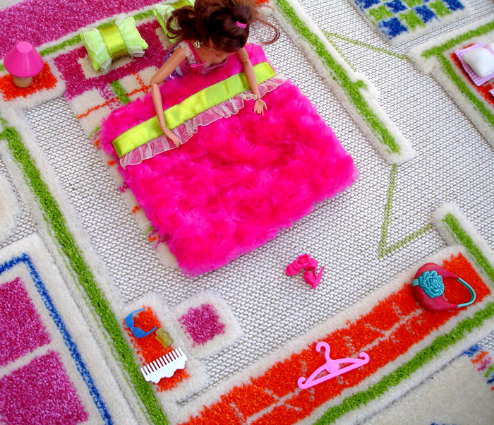 Pink Playhouse Play Carpet from Luca and Company